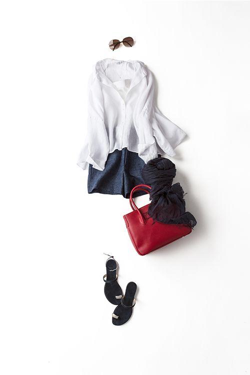 Kyoko Kikuchi's Closet | 夏の風が心地いい、 リネン×ショートパンツの着こなし