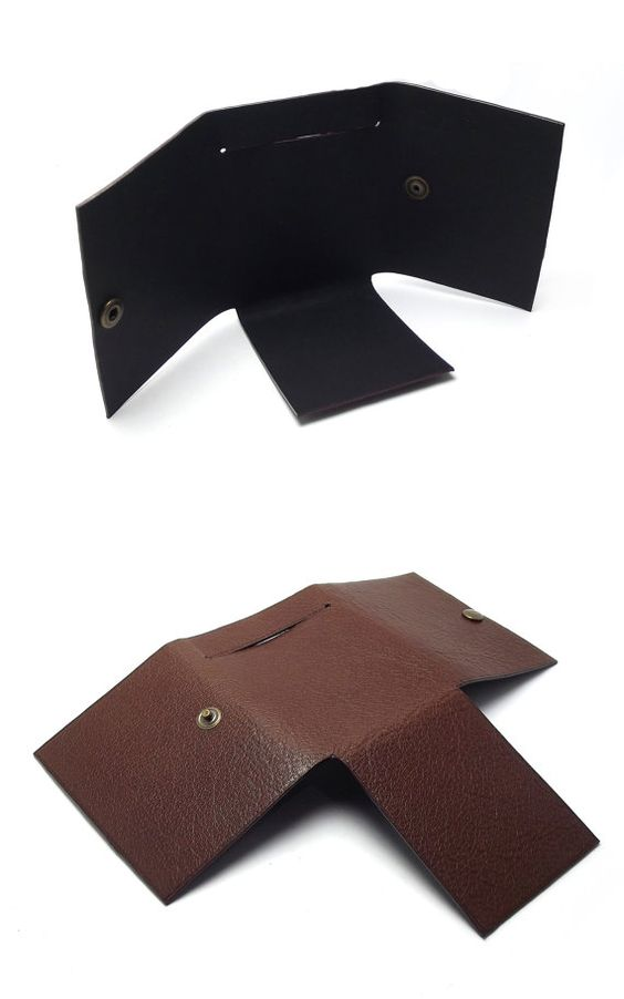 Simple Fold Leather Wallet Chocolate Brown Minimalist by Sakao