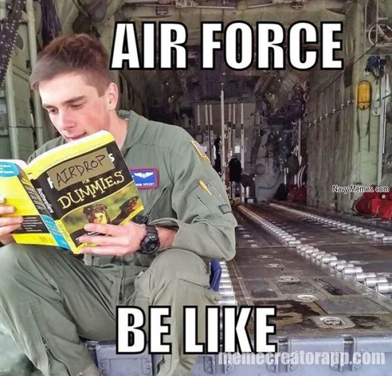 Air force making fun of marines