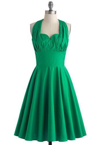ModCloth too cute green dress