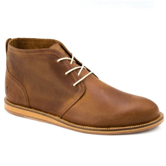 J Shoes Realm Mens Mid Brown Leather Chukka Boots | Wear