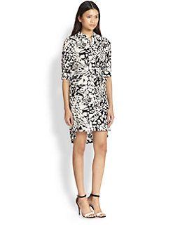 Diane von Furstenberg - Prita Printed Silk Shirtdress