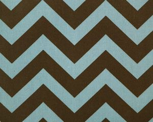 Zig Zag Kelso Brown/French Blue by Premier Prints - Drapery Fabric - Fabric By The Yard