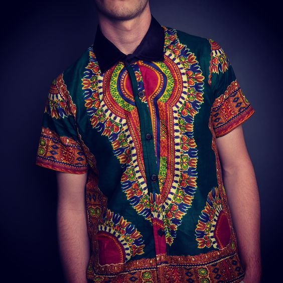 Dashiki Button up men's fashion by ZDW