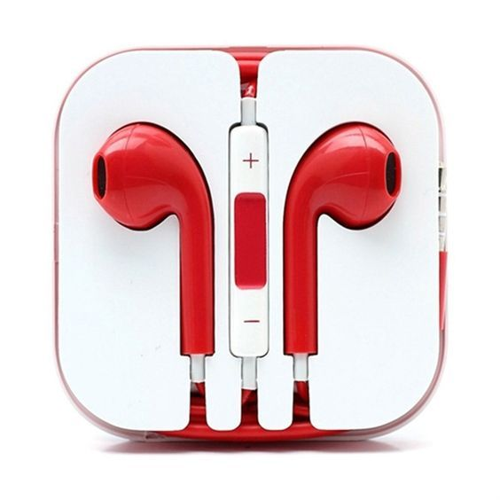 I Love The Color Red Iphone Earphones Earbuds Iphone Earbuds