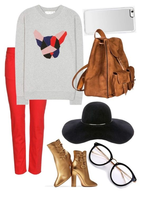 """Unique but Casual"" by jnoelleh ❤ liked on Polyvore featuring Alexander McQueen, Être Cécile, Gianvito Rossi, Eugenia Kim, Zero Gravity and Yves Saint Laurent"