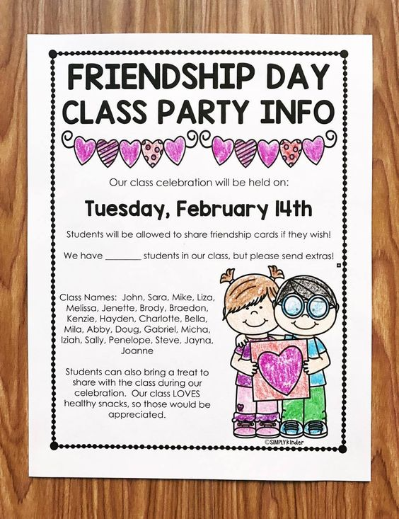 b0d723cacedaec7cbd7b36f3c117e986 Valentine S Party Letter To Parents Template on for party, box project, ice cream party classroom, free printable,