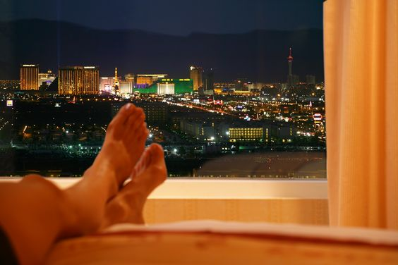 Breathtaking view from a South Point Hotel, Casino & Spa Las Vegas room.