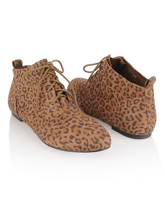 Wingtip Leopard Ankle Boots - StyleSays