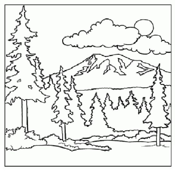 Mountain Coloring Page children