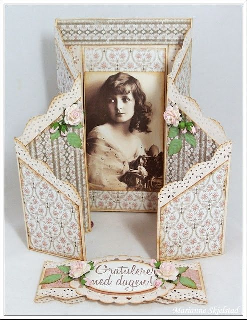 Mariannes papirverden.: Double zig zag card - Tutorial