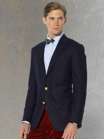Two-Button Navy Blazer - Polo Ralph Lauren Polo Ralph Lauren - RalphLauren.com