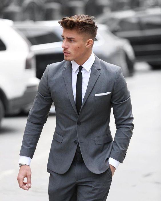 Ravishing grey formal suit for men