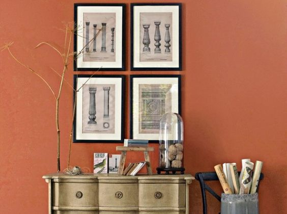 mur couleur paprika - Cuisine Couleur Rouge Brique