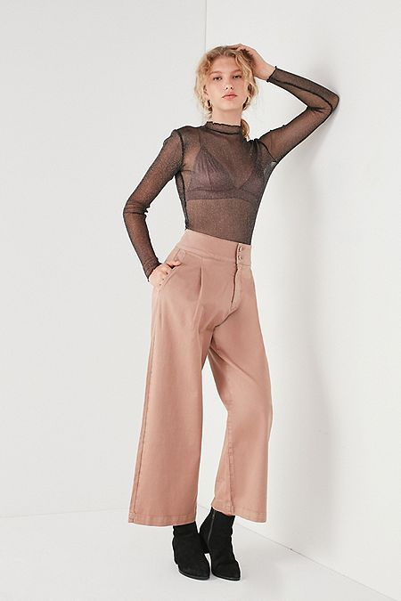 Spring 2018 BDG Amanda High-Rise Button Culotte Pant
