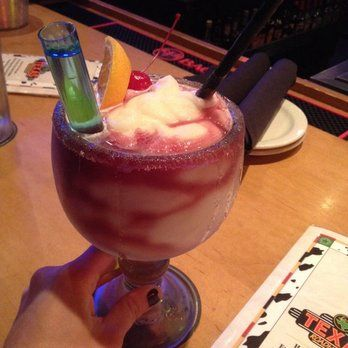 My drink for the night Sangria Margarita with a shot of patron !! Wepa.. ;)   Yelp