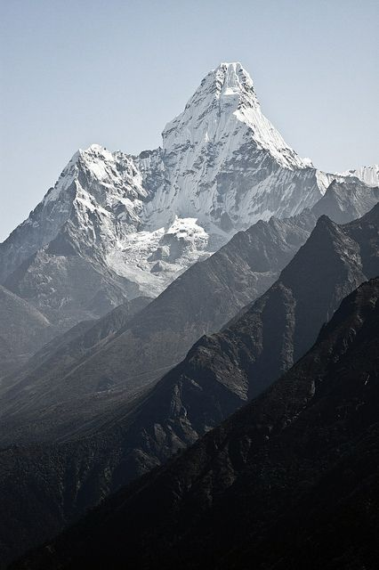 Ama Dablam mountain, in Nepal Himalayas