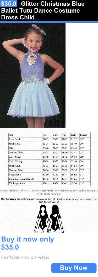 Dancewear: Glitter Christmas Blue Ballet Tutu Dance Costume Dress Child Medium BUY IT NOW ONLY: $35.0
