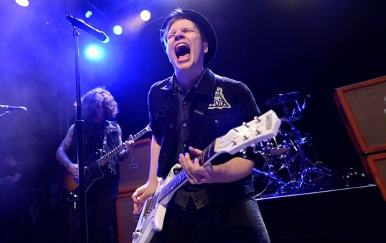 Sometimes you just have to scream. Fall Out Boy's Patrick Stump lets it all out during a performance on Nov. 5 in London