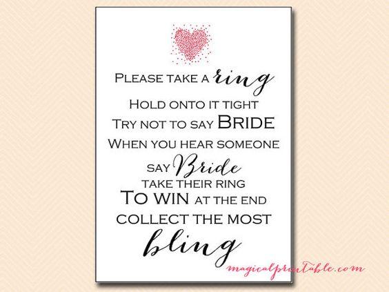 Don't say bride clothespin game Love Birds by MagicalPrintable