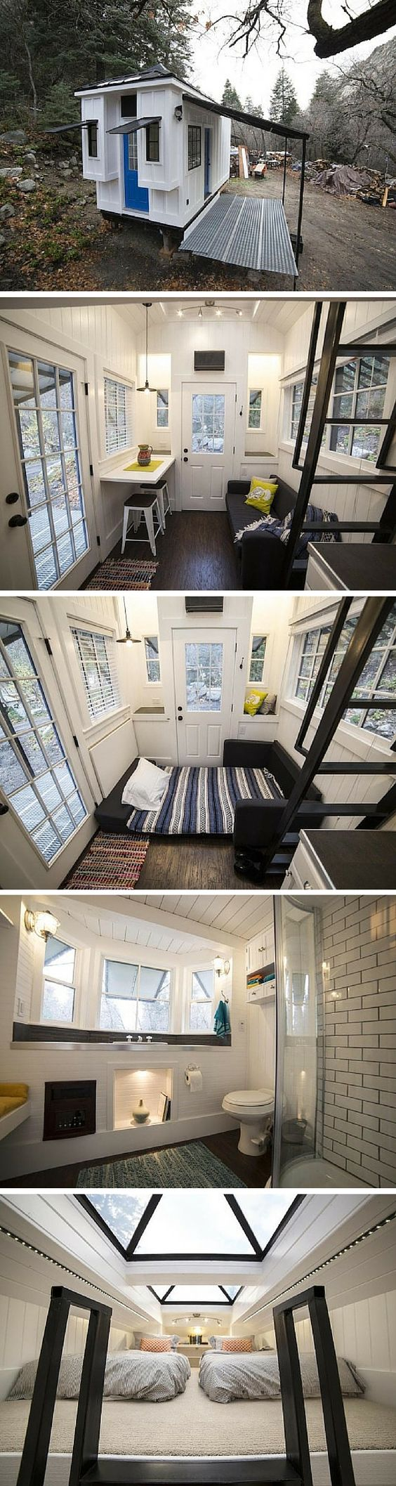 a 192 sq ft tiny house in utah sign pinterest the