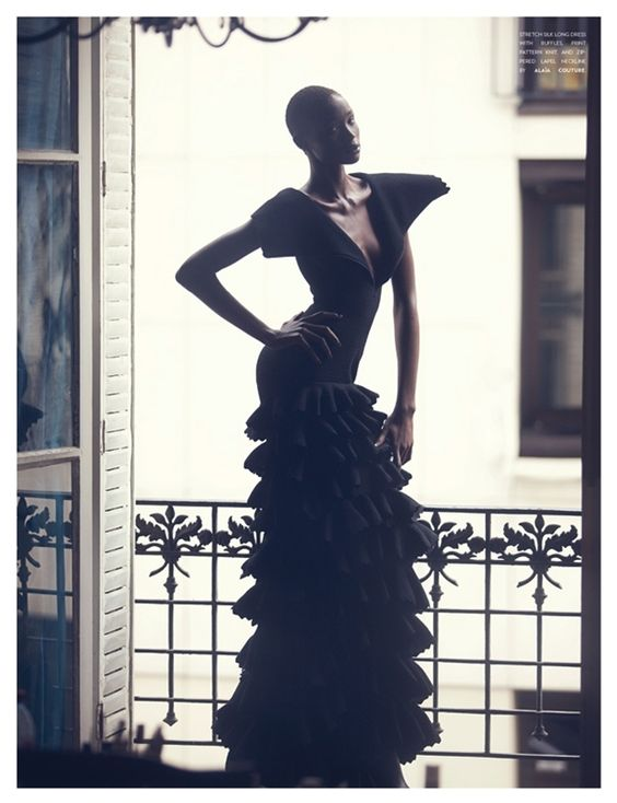 vintage glamour with Ataui Deng