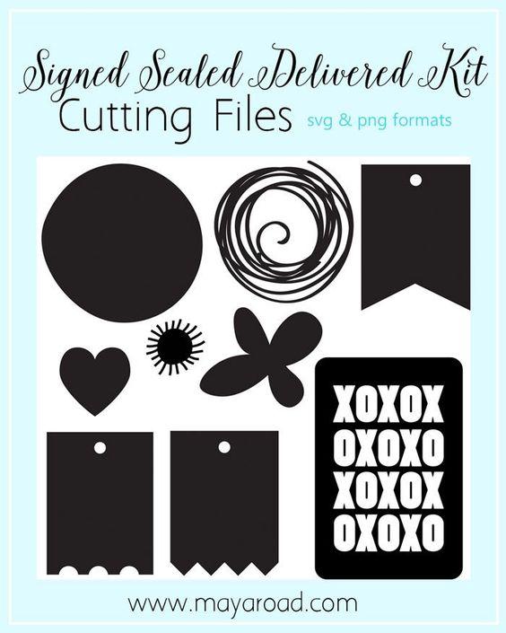 Signed Sealed Delivered Digital Cutting Files SVG Format