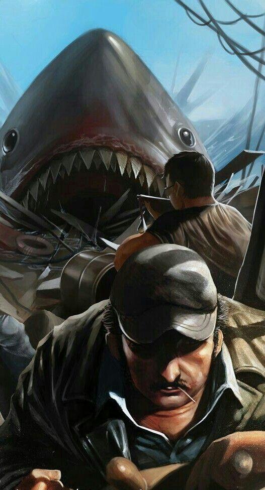 Pin By Gary T On Movies Jaws Movie Shark Movie Art