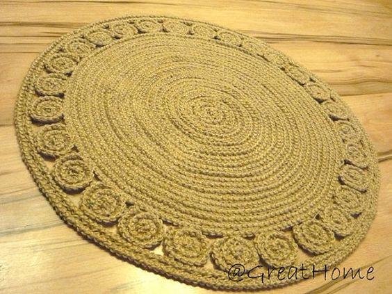 28 Unique decorative jute rug round Rag Rug / Braided by GreatHome
