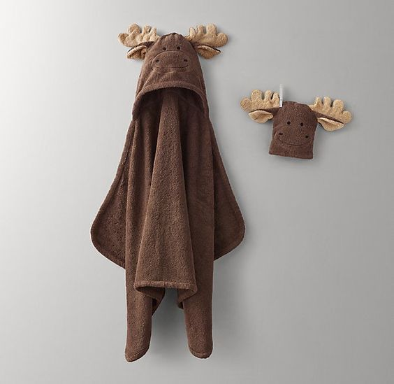 Animal Hooded Towel & Bath Mitt - Baby
