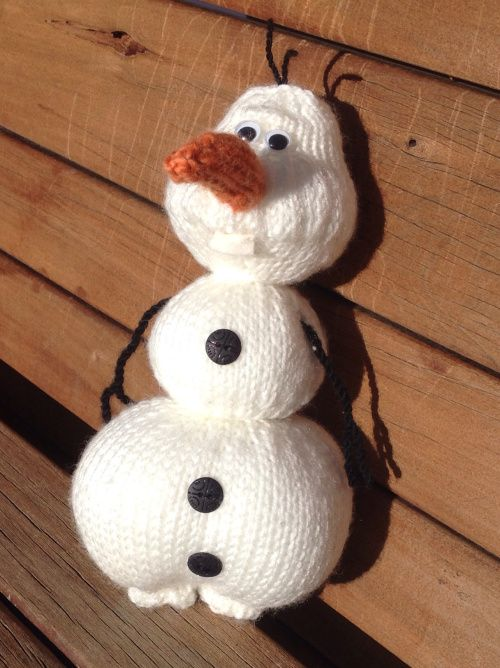 """Olaf from """"Frozen"""" – Knitting Pattern   Living with the Knit Guru"""