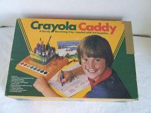 Vintage-Crayola-Crayon-Caddy-Art-Supply-Holder-Binney-Smith-w-box