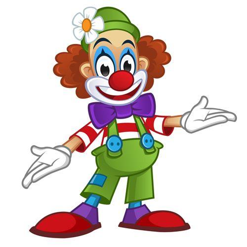 clowns.quenalbertini: Clown with flower vector