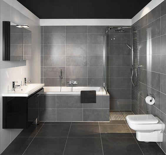 Ba os modernos peque os con ducha buscar con google for Decoracion duchas