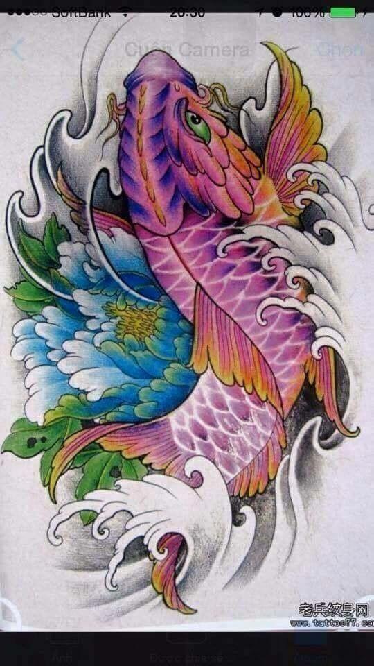 Diseno Tatuaje De Pez Coi Tatuajes Carpas Koi Pez Koi Dibujo Tatuaje De Dragon Koi