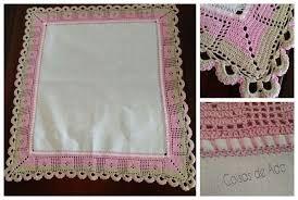 Resultado de imagem para toalha de mesa com barrado em crochê