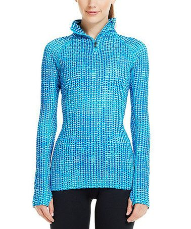 Another great find on #zulily! Pirate Blue Cozy Printed Half-Zip Pullover #zulilyfinds