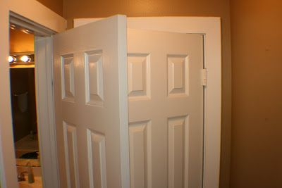 bathroom closet conundrum and fix, cleaning tips, closet, How silly is this setup