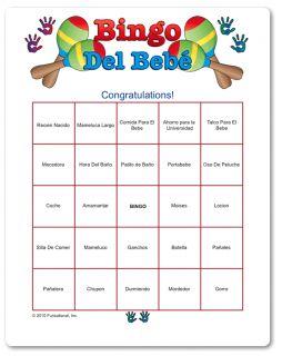 spanish spanish baby shower bingo game baby shower games in spanish