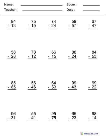 Math worksheets for 6th graders division