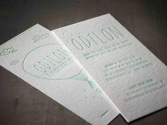 Birth Announcement Card ODILON Design by Katrien Crabeels – Printed Birth Announcements