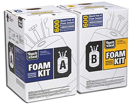 Two Component Polyurethane Foam Kit 600 Board Feet Spray Foam Insulation Amazon Com With Images Foam Insulation Spray Foam Insulation Kits Spray Foam