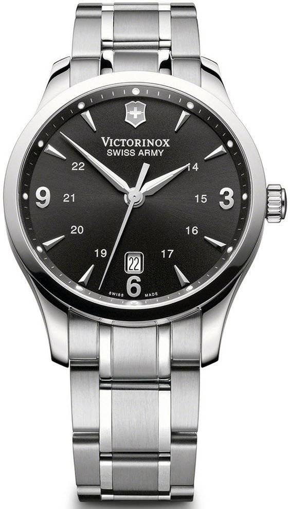 Victorinox Swiss Army Watch Alliance #bezel-fixed #bracelet-strap-steel #brand-victorinox-swiss-army #case-material-steel #case-width-38mm #classic #date-yes #delivery-timescale-call-us #dial-colour-black #gender-mens #movement-quartz-battery #official-stockist-for-victorinox-swiss-army-watches #packaging-victorinox-swiss-army-watch-packaging #style-dress #subcat-alliance #supplier-model-no-241473 #warranty-victorinox-swiss-army-official-3-year-guarantee #water-resistant-100m