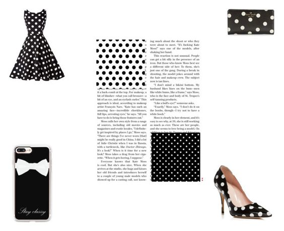 """""""More Polka Dots!"""" by queenb-676 ❤ liked on Polyvore featuring Kate Spade and Casetify"""