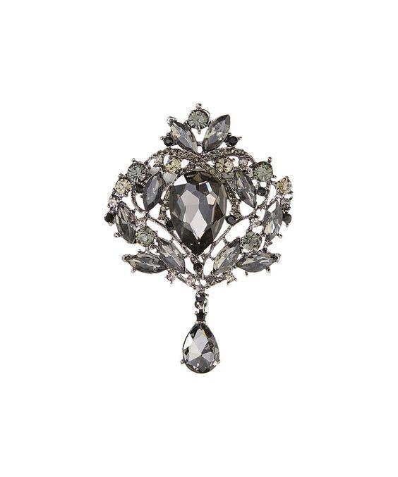 Loving this Hematite Abstract Flower Brooch on #zulily! #zulilyfinds