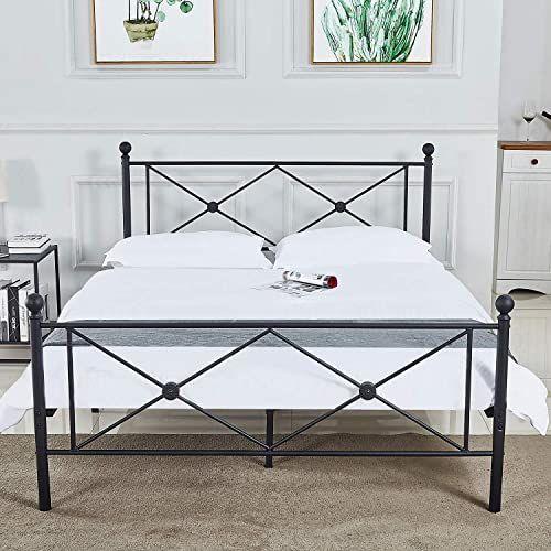 New Bedinnovation Full Size Bed Frame Metal Platform Mattress