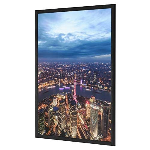 One Wall 27x40 Inch Poster Frame Black Aluminum Movie Poster Frame For Photo Picture Poster Artwork Wall Hangi Poster Frame Movie Poster Frames Poster Artwork