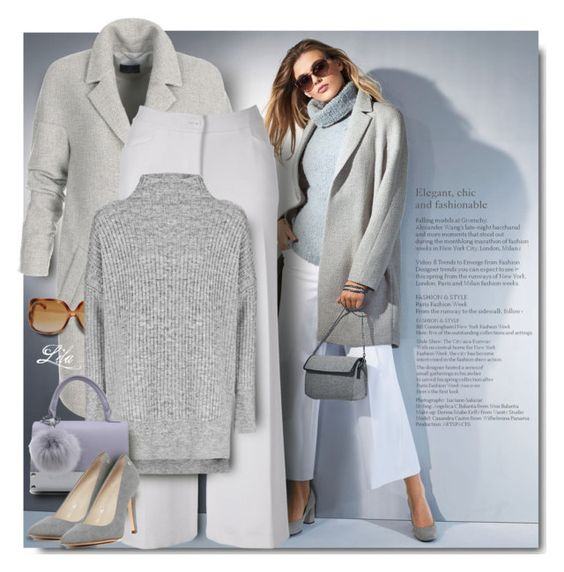 """""""Grey & Grey"""" by breathing-style ❤ liked on Polyvore featuring Topshop and Calvin Klein"""