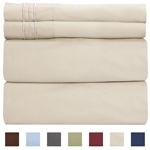 California King Size Sheet Set 4 Piece Hotel Luxury B Https Www Amazon Com Dp B06x9p9mg2 Ref Cm Sw R Pi D Luxury Bed Sheets Bed Sheets Cute Bed Sheets