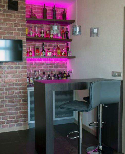 Top 70 Best Home Mini Bar Ideas Cool Beverage Storage Spots Bar Interior Design Home Bar Rooms Modern Home Bar